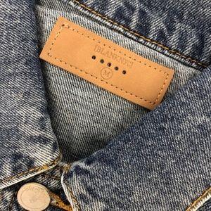 Blank NYC Jackets & Coats - BlankNYC Oversized Studded Trucker Denim Jacket